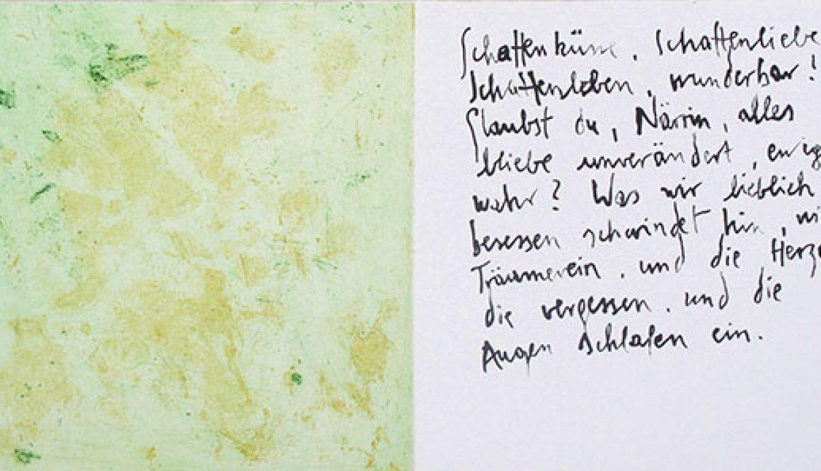 aus dem Künstlerbuch HEINE GEDICHTE von Massimo Danielis