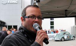 Max Foerster 2015 bei der Wertungsprüfung auf dem Gelände der Firma EDAG.