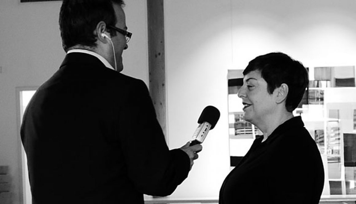 Max Foerster im Gespräch mit Monika Humm.Foto: Rainer Humm