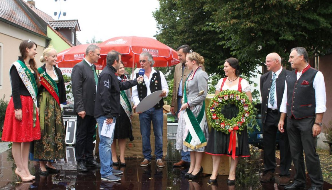 Max Foerster moderiert Hopfensiegelfest in Pfeffenhausen