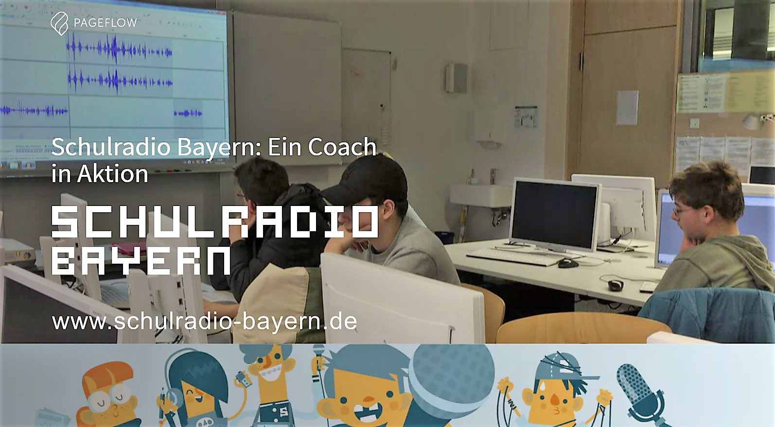 Max Foerster als Schulradio-Coach in Aktion