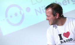 Max Foerster bei den Lokalrundfunktagen 2018; Foto: Medientage München